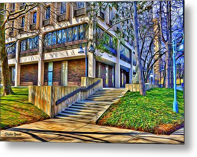 Morning Before Business Metal Print by Stephen Younts