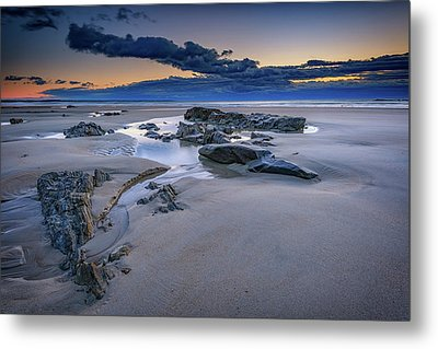 Metal Print featuring the photograph Morning Calm On Wells Beach by Rick Berk