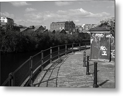 Morning Canal Path Metal Print by Jez C Self