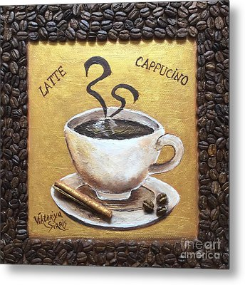 Morning Cup Of Coffee Metal Print by Viktoriya Sirris