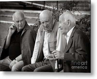Morning Discussion Metal Print by Jim  Calarese
