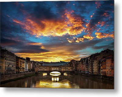Morning Drama Over Florence Metal Print by Andrew Soundarajan