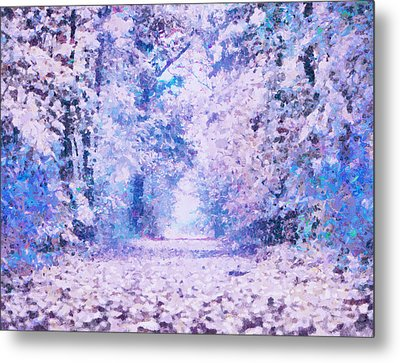 Morning Fantasy Forest Impressions Metal Print