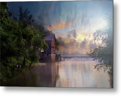 Metal Print featuring the photograph Morning Fishing  by Joel Witmeyer