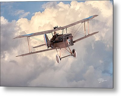 Morning Flight - Se5a Metal Print by David Collins