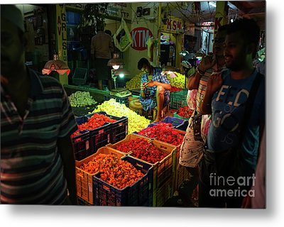 Metal Print featuring the photograph Morning Flower Market Colors by Mike Reid