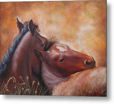 Morning Foals Metal Print