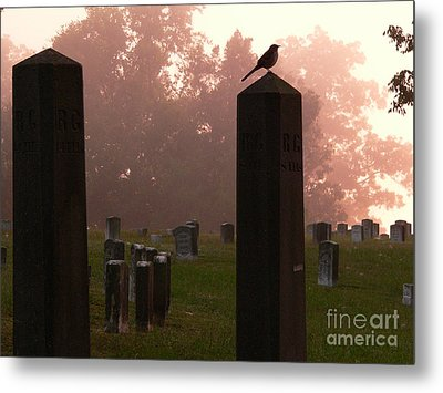 Morning Fog Along The Tennessee Metal Print by David Bearden