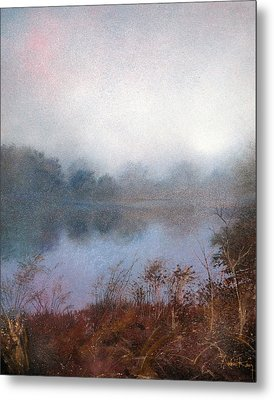 Metal Print featuring the painting Morning Fog by Andrew King