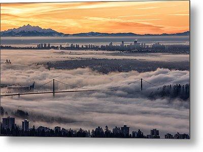 Morning Fog Metal Print by DGS Full Spectrum Photography