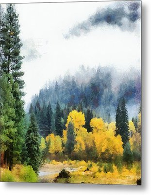 Morning Fog Montana Metal Print by Russ Harris