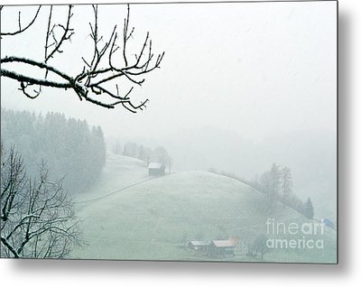 Metal Print featuring the photograph Morning Fog - Winter In Switzerland by Susanne Van Hulst