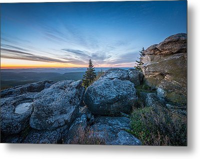 Monongahela National Forest Wilderness Morning Light Metal Print by Rick Dunnuck