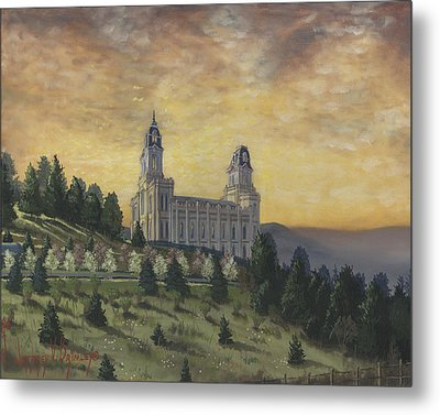 Morning He Came Again Into The Temple Metal Print by Jeff Brimley