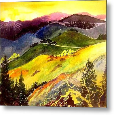 Morning In The Hills Metal Print