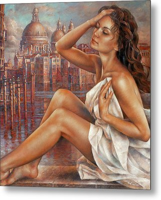 Morning In Venice Metal Print by Arthur Braginsky