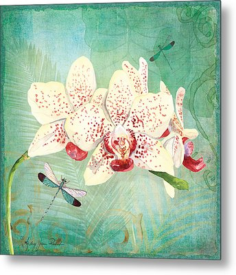 Morning Light - Dancing Dragonflies Metal Print by Audrey Jeanne Roberts