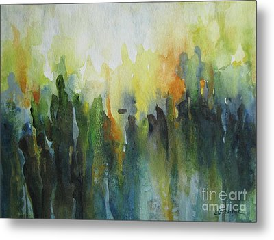 Metal Print featuring the painting Morning Light by Elena Oleniuc