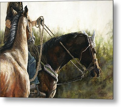 Morning Light Metal Print by Leisa Temple