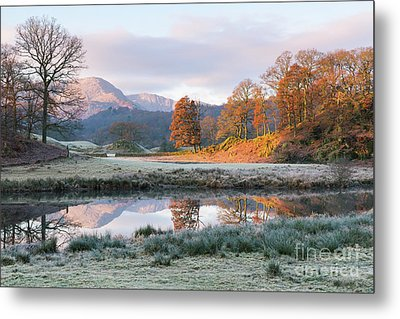 Morning Light Over The Brathay Metal Print