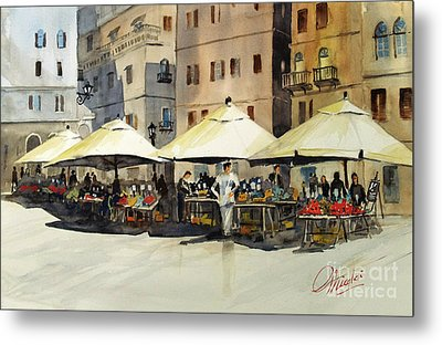 Morning Market Metal Print
