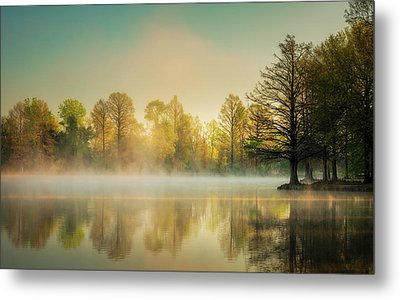 Metal Print featuring the photograph Morning Mist At Honor Heights  by James Barber