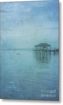 Metal Print featuring the digital art Morning Mist In Blue by Randy Steele