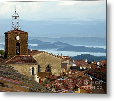 Morning Mist In Provence Metal Print
