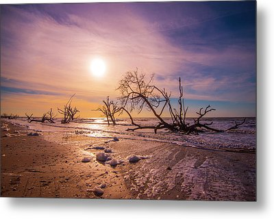 Metal Print featuring the photograph Morning On Boneyard Beach by Steven Ainsworth