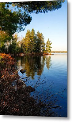 Morning On Chad Lake 4 Metal Print by Larry Ricker