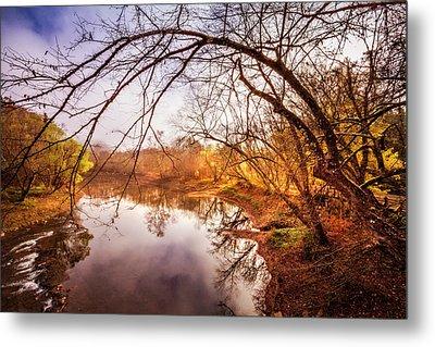 Morning On The River Metal Print by Debra and Dave Vanderlaan