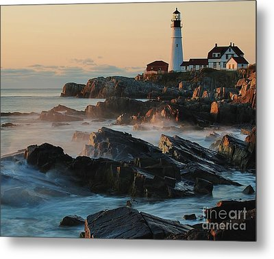 Morning On The Rocks Metal Print by Paul Noble