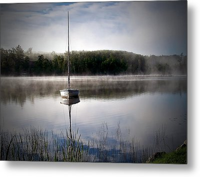 Morning On White Sand Lake Metal Print by Lauren Radke