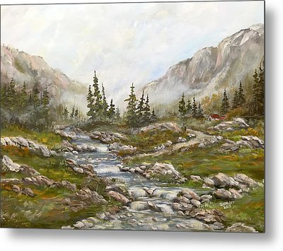 Morning Rising Fog Metal Print by Dorothy Maier
