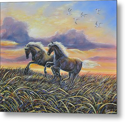 Morning Run Metal Print by Gail Butler