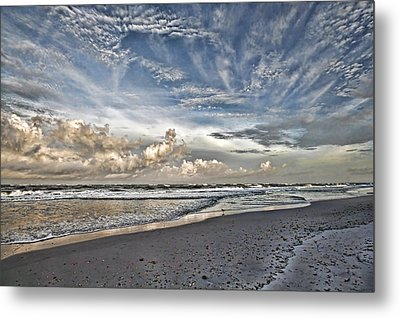 Morning Sky At The Beach Metal Print by HH Photography of Florida