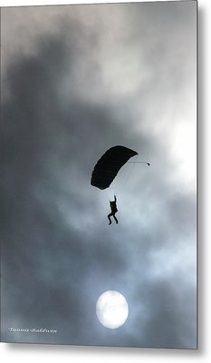 Metal Print featuring the photograph Morning Skydive by Tannis  Baldwin