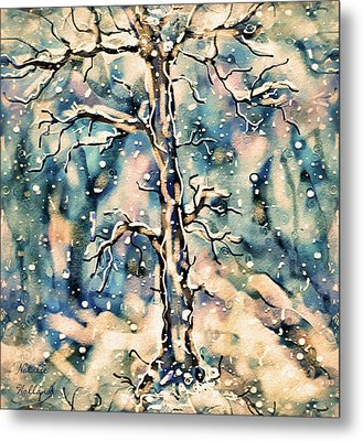 Morning Snow Metal Print by Natalie Holland