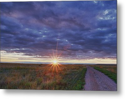 Metal Print featuring the photograph Morning Starburst by Monte Stevens