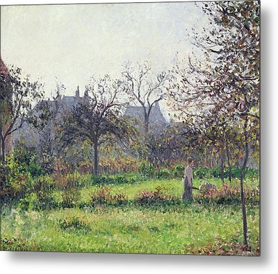 Morning Sun Metal Print by Camille Pissarro