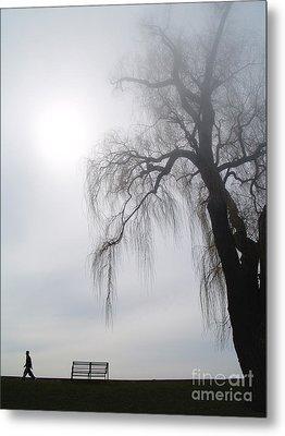 Morning Sun Tries To Break Through The Mist. Metal Print by Emilio Lovisa
