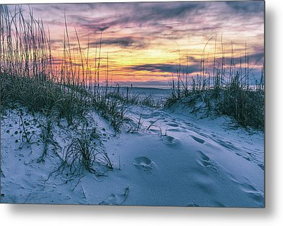 Metal Print featuring the photograph Morning Sunrise At The Beach by John McGraw