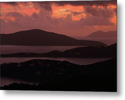 Metal Print featuring the photograph Morning Sunrise From St. Thomas In The U.s. Virgin Islands by Jetson Nguyen