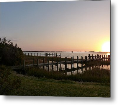 Morning Sunrise Over Assateaque Island Metal Print by Donald C Morgan