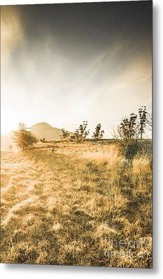 Morning Tasmanian Fog Landscape Metal Print by Jorgo Photography - Wall Art Gallery