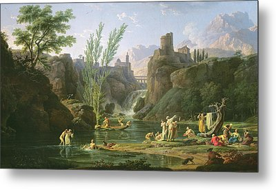 Morning  The Bathers Metal Print by Claude Joseph Vernet