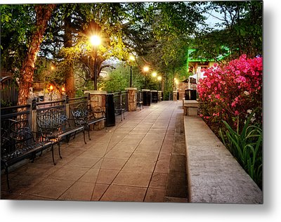 Morning Walk In Gatlinburg Tennessee Metal Print by Greg Mimbs