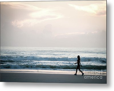 Morning Walk With Color Metal Print