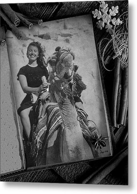 Metal Print featuring the photograph Moroccan Camel Trek by Kathy Kelly