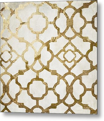 Moroccan Gold I Metal Print by Mindy Sommers